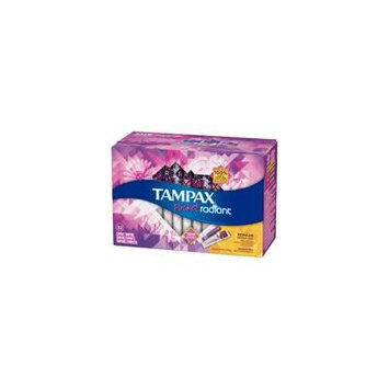 Tampax Pocket Radiant Compact Tampons - Regular/Unscented - 32ct