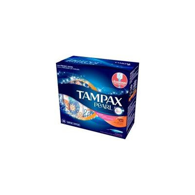 Tampax Pearl Plastic Applicator Super Plus Absorbency Scented Tampons - 36ct