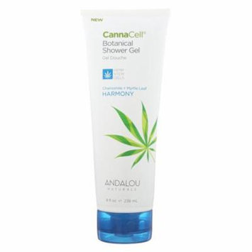 Andalou Naturals Shower Gel Chamomile + Myrtle Leaf - Case of 8 - 8 fl oz.