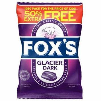 Foxs Glacier Dark 195g Bag (130g + 50% FREE) - (Pack of 6)