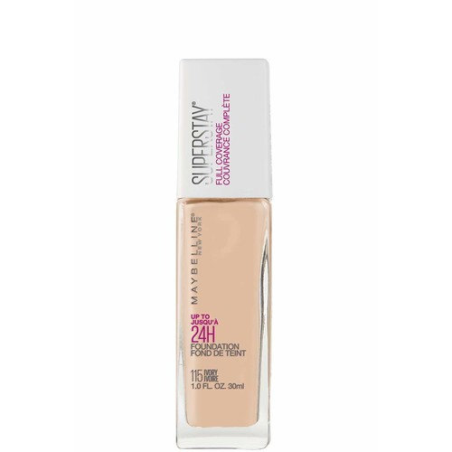 Maybelline New York Super Stay Full Coverage Liquid Foundation Makeup, Ivory, 1 Fluid Ounce