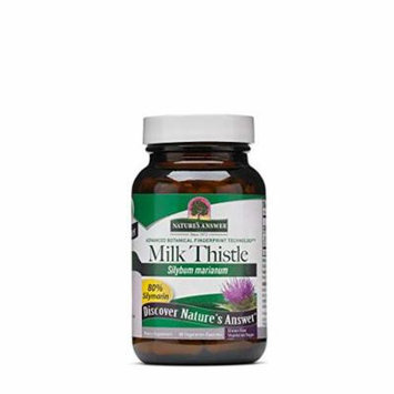 Nature's Answer Milk Thistle Herbal Extract 60 Vegetarian Capsules