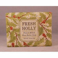 Greenwich Bay Shea Butter Luxury Spa Soap, Large 10.5 oz, Christmas Ltd Edition FRESH HOLLY