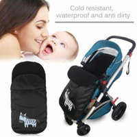 Windproof Cold-Proof Baby Stroller Sleeping Bag Winter Autumn Cover Mat black