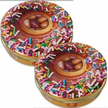 (Set/8) New Jelly Belly Krispy Kreme Tin - Donut Shaped Cans w/ One Oz Candy