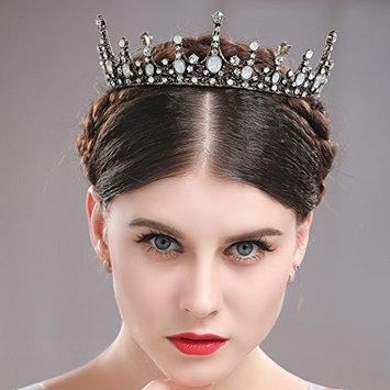 Jovono Wedding Bridal Tiara Crown Baroco Style for Women and Girls