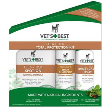 Vet's Best Flea + Tick Total Protection Kit [Options : 3-Piece]