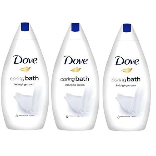Dove Body Wash, Caring Bath Indulging Cream, 16.9 Ounce / 500 Ml (Pack of 3)
