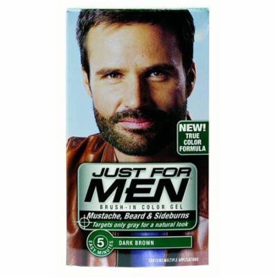 JUST FOR MEN Color Gel Mustache & Beard M-45, Dark Brown 1 Each (Pack of 12)