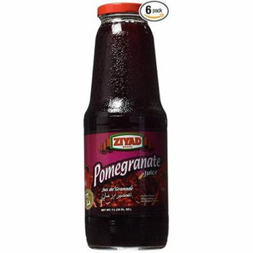 Ziyad Pomegranate Juice High Source of Antioxidant, 35 Fluid Ounce (Pack of 6)