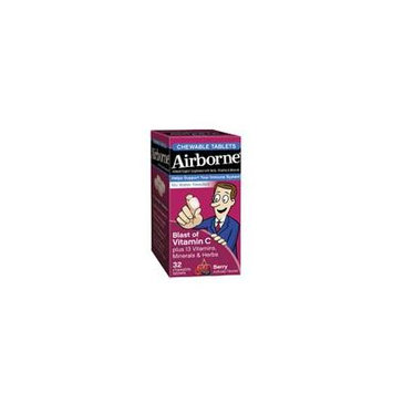 Airborne Original with Vitamin C, Chewable Tablets Berry 32 ea (Pack of 3)