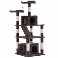 Cat Tree Tower Condo,Modern Indoor Multi-Level Plush Cat Activity Center With Scratching Post And Ladder,64