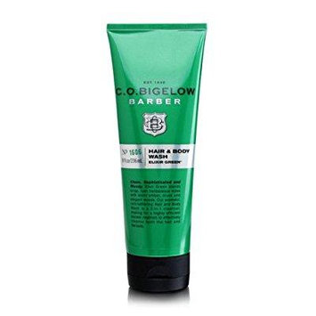 c.o. bigelow elixir green hair & body wash 8 oz