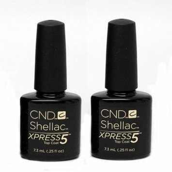 CND Shellac Xpress 5 Top Coat 7.3 ml / 0.25 oz (Pack Of 2)