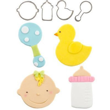Baby Cutie Cupcake Cutter Set - Includes Baby Face, Bottle, Rattle, and Duck - National Cake Supply
