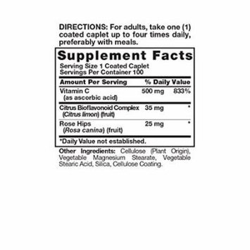 Nature's Truth Vitamin C 500mg with Bioflavonoids & Rose Hips Tablets, 100 Count