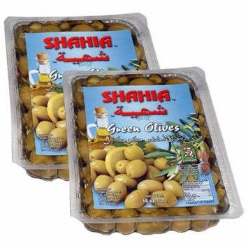 (2 Pack) Shahia Green Olives 16 oz. Pack