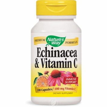 Nature's Way - Echinacea and Vitamin C, 492 mg, 100 Capsules, Pack of 2
