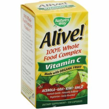 Nature's Way Alive! Organic Vitamin C 120 Vcaps, Pack of 2