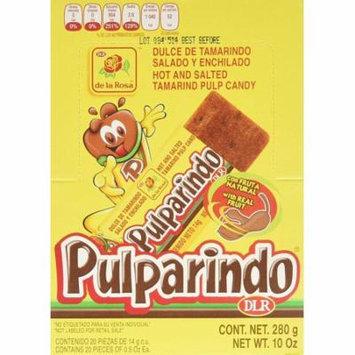 Mexican Candy De La Rosa Tamarind Candy Bar Pulparindo Original 20 Piece Pack