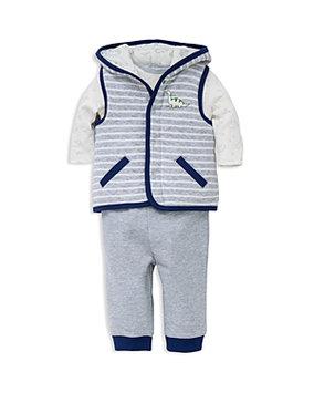 Little Me Boys' Dino Print Vest, Bodysuit & Pants Set - Baby