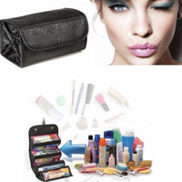 Foldable Women Makeup Beauty Toiletry Storage Bag Make Up Organizer Pouch Holiday Gifts, black,