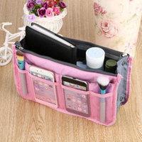 Waterproof Lady Women Cosmetic Makeup Bag Organizer Travel Insert Handbag Holiday Gifts, pink,