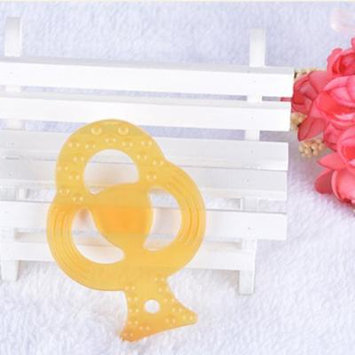Infant Baby Teether Special Shape Chew Stick Non-toxic Nano Silver Silica Gel Dental Care Bite Toys for Baby