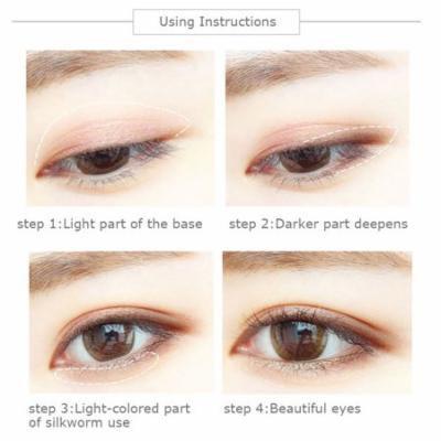 SUIKONE Double Head Air Cushion Eyeshadow Stick Natural Eye Shadow Cream Pen Holiday Gifts, pink brown,