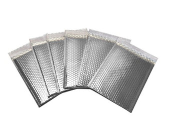 Packagingsuppliesbymail Glamour Bubble Mailers-13.75' x 11'-Silver-100 Pieces = 2 Cases