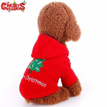 Merry Christmas! Warm Christmas Dog Coat Bright Red Puppy Jacket Autumn Winter Pet Dog Clothes