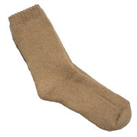 Lian LifeStyle Men's 6 Pair Extra Thick Wool Socks Solid(Beige)