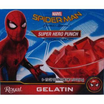 Jel Sert ROYAL SPIDER-MAN GELATIN SUPER HERO PUNCH 6 SERVE