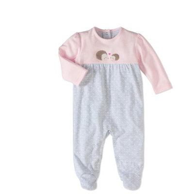 Rene Rofe Baby Newborn Girl Footed Coverall