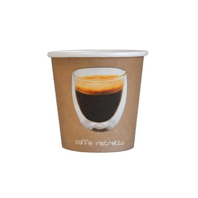 Packnwood 210GCRIS4 4 oz Paper Ristretto Cup 2.3 x 2.5 in.