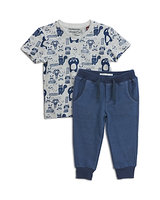Sovereign Code Boys' Animal Print Tee & Joggers Set - Baby