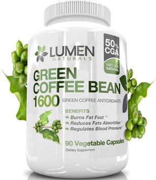 Lumen Naturals Pure Green Coffee Bean Extract - Maximum Strength Fat Burner - 90 Powerful Capsules to Accelerate We