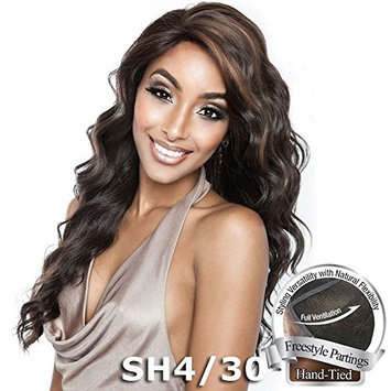 BS405 (1 Jet Black) - Mane Concept ISIS Brown Sugar Human Hair Blend Swiss Whole Lace Wig