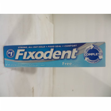 Fixodent Free Denture Adhesive Cream, 2.4 oz-Pack of 5
