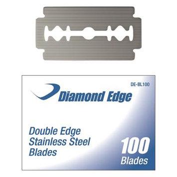 DIAMOND EDGE 100 CT. DOUBLE EDGE STAINLESS STEEL BLADES - 100/BX EA