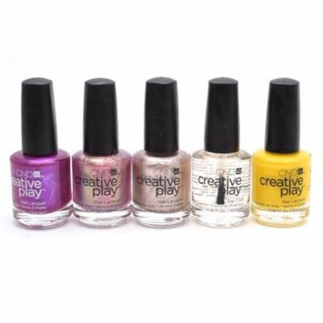 CND Creative Play Nail Lacquer set of 5: Crushing It, Pinkidescent, Take the $$$, Top Coat, Taxi Please (each .46 Fl Oz.)