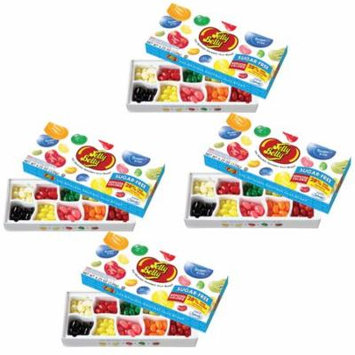 (Set/4) Jelly Belly Sugar Free Candy - Ten Flavors In Each Lovely Gift Boxes