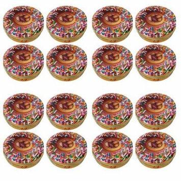 (Set/16) Jelly Belly Krispy Kreme w/ Donut Shaped Tin - 1oz Jelly Beans Each