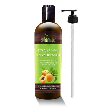 Apricot Kernel Oil by Sky Organics - 100% Pure, Natural & Cold-Pressed Apricot Oil - Ideal for Massage, Cooking and Aromatherapy- Rich in Vitamin A - 8oz