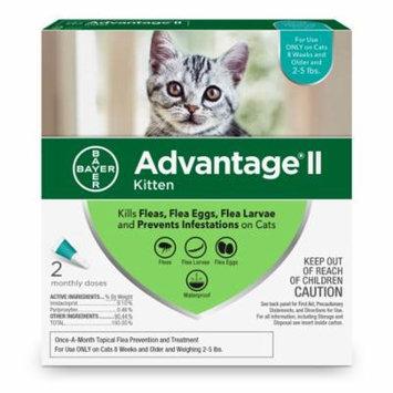 Advantage II Flea Treatment for Kittens, 2 Monthly Treatments