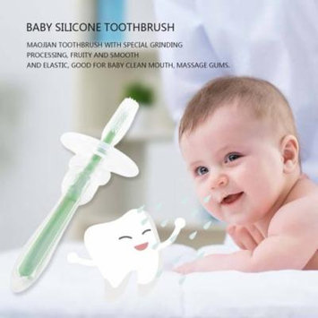 Lovely Shape Baby Product Special Soft Silicone Light Toothbrush Oral Care Holiday Gifts, green,