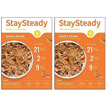 Nutritious Living StaySteady Cereal, Maple Pecan, 10-Ounce (Pack of 2) Previously Known as Hi-Lo Cereal
