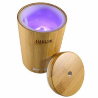 Best Essential Oil Diffuser - Ultrasonic Aromatherapy Real Bamboo Diffuser - 7 LED Lights - Waterless Auto-shutoff and Timer - For Office, Home, Spa & Massage Centers by Harlyn
