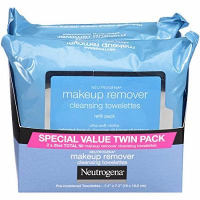 Neutrogena Makeup Removing Wipes, 25 Count, Twin Pack (.2 Pack)