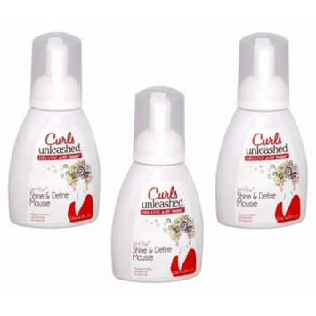 3 Organic Root Stimulator Curls Unleashed Shine & Define Mousse Paraben & BPA Free